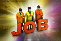 Job concept Royalty Free Stock Photo