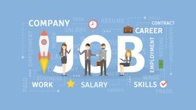 Job concept illustration. vector illustration