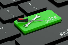 Job concept on keyboard button Stock Photography