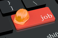 Job concept on keyboard button Royalty Free Stock Images