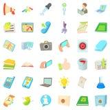 Job control icons set, cartoon style. Job control icons set. Cartoon set of 36 job control vector icons for web isolated on white background Stock Image