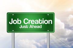 Job Creation Green Road Sign Imágenes de archivo libres de regalías