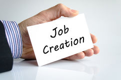 Job creation text concept Stock Image