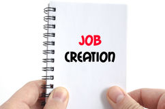 Job creation text concept Royalty Free Stock Photos