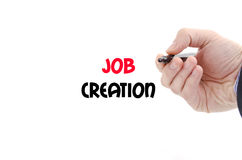 Job creation text concept Royalty Free Stock Images