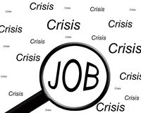 Job in crisis Stock Photography