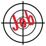 Job in cross hairs Stock Photography