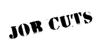 Job Cuts rubber stamp Royalty Free Stock Image