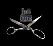 Job cuts with scissors Stock Photography