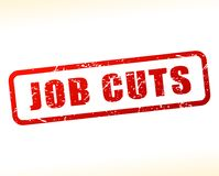 Job cuts text buffered. Illustration of job cuts text buffered on white background Stock Photos