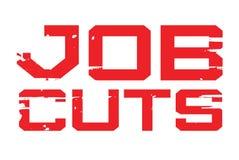 Job Cuts typographic stamp. Typographic sign, badge or logo Stock Photo