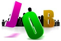 Job 3D Stock Photo