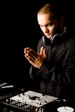 Job of deejay Stock Photography