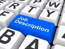 Job Description key. Blue Job Description key on white keyboard royalty free illustration