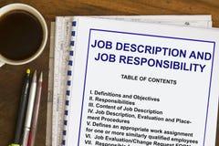 Job description Royalty Free Stock Images