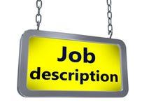 Job description on billboard. Job description on yellow light box billboard on white background royalty free illustration