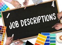 JOB DESCRIPTIONS  Human resources, employment, team management J. OB DESCRIPTIONS  , PERFORMANCE MANAGEMENT  JOB DESCRIPTIONS , Hiring a new employee or Royalty Free Stock Photos