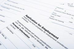 Job di applicazione di occupazione Immagine Stock