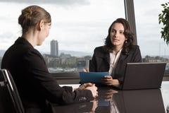 job di intervista Immagini Stock