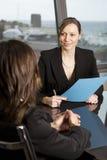 job di intervista Fotografie Stock Libere da Diritti