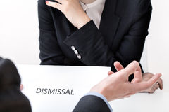 Job dismissal Royalty Free Stock Images