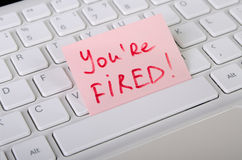 Job dismissal notice royalty free stock photography