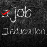 Job and Education Check Boxes. Royalty Free Stock Photography