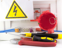 Job electrician. In the composition Stock Image