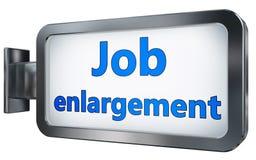 Job enlargement on billboard. Job enlargement wall light box billboard background , isolated on white Stock Images