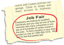 Job Fair Ad Stock Photos