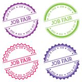 Job fair badge isolated on white background. Flat style round label with text. Circular emblem vector illustration royalty free illustration