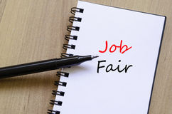 Job Fair Concept Notepad stock afbeeldingen