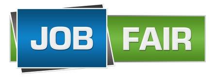 Job Fair Green Blue Horizontal Imagen de archivo libre de regalías
