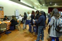 Job Fair i Vancouver Arkivfoto