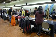 Job Fair i Vancouver Arkivbilder