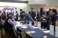 Job Fair i Vancouver Arkivfoton