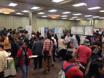 Job fair. A lot companies in Winnipeg have made the job fair for a potential employers who seek for a job. Winnipeg, Canada. 19 August 2015 Royalty Free Stock Photography