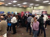 Job fair. A lot companies in Winnipeg have made the job fair for a potential employers who seek for a job. Winnipeg, Canada. 19 August 2015 Royalty Free Stock Images