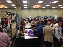Job fair. A lot companies in Winnipeg have made the job fair for a potential employers who seek for a job. Winnipeg, Canada. 19 August 2015 royalty free stock photos