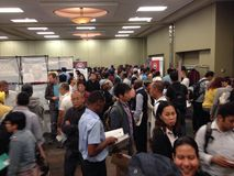 Job fair. A lot companies in Winnipeg have made the job fair for a potential employers who seek for a job. Winnipeg, Canada. 19 August 2015 royalty free stock image
