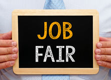 Free Job Fair - Manager Holding Chalkboard With Text Royalty Free Stock Images - 97045069