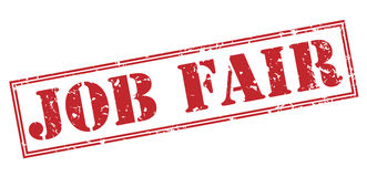 Job fair stamp. Job fair red stamp on white background Royalty Free Stock Images