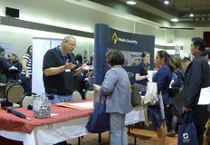 Job Fair a Vancouver Immagine Stock