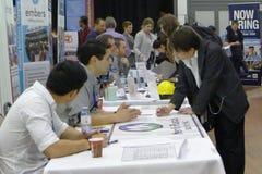 Job Fair à Vancouver Photos libres de droits