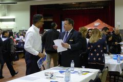 Job Fair in Vancouver Stock Photography