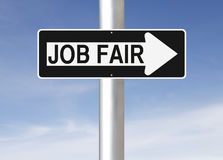 Job Fair This Way Royalty Free Stock Photos