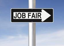 Job Fair This Way. A modified one way sign indicating Job Fair Royalty Free Stock Photos