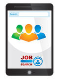 Job finder application screen Stock Photo