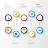 Job Flat Icons Set Raccolta di elementi di chiacchierata ed altro dell'uomo, del gruppo, del lavoro Inoltre comprende i simboli q Immagini Stock