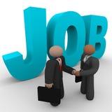 Job - gente di affari della stretta di mano Fotografia Stock